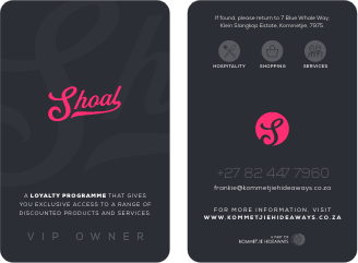 Kommetjie Hideaways | Shoal | Owner Card